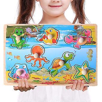 Børns træ hånd scratch board puslespil - tidlig uddannelse Montessori