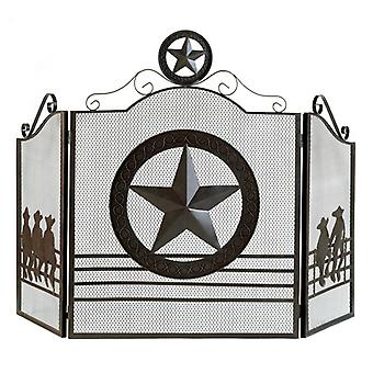 Accent Plus Texas Lone Star Fireplace Screen, Pack of 1
