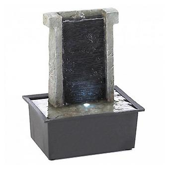 Cascading Fountains Lighted Stone Wall Tabletop Water Fountain, Pack of 1