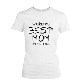 世界最高のお母さんホワイト コットン グラフィック t シャツ-かわいい母の日のギフトの考え