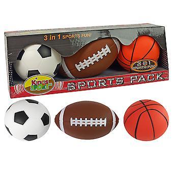 Sportbälle - Fußball - Basketball - Baseball - 12 cm - weich