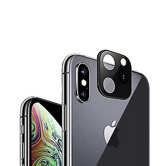 Lens converters 6pcs converted change iphone x to iphone 11 pro metal change phone camera lens protector for iphone