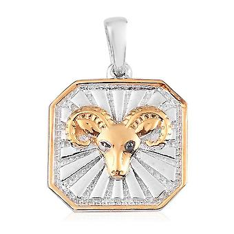 TJC weiß Diamant Sternzeichen Anhänger für Frauen Sterling Silber