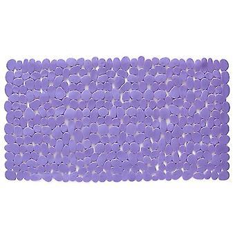 Suorakulmio Mukulakivi kylpymatto liukumaton tyyny kylpyhuone 88 * 40cm (88 * 40cm)(Violetti)