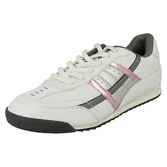 Ladies Spot On Lace Up Trainers F8982
