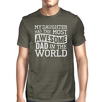 معظم رهيبة أبي مضحك رجالي تصميم كم قصير تي القميص لأبي