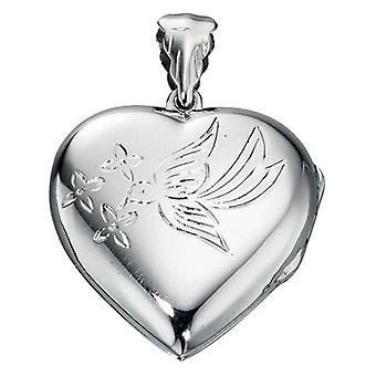 925 Silver Heart Photo Pendant Necklace