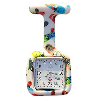 Boolavard® TM Nurses Fashion Coloured Patterned Silicone Rubber Fob Watches - Square Skateboard