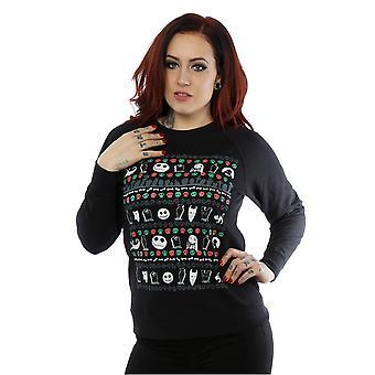 Disney Frauen Nightmare Before Christmas festliche Symbole Sweatshirt