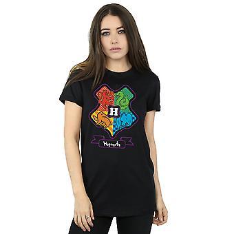 Harry Potter Frauen Hogwarts Junior Crest Freund Fit T-Shirt