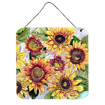 Flower - Sunflower Aluminium Metal Wall or Door Hanging Prints