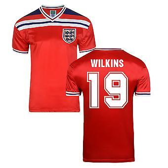 رسم نقاط إنكلترا كأس العالم عام 1982 بعيداً قميص (ويلكنز 19)