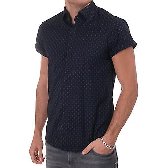 Scotch & Soda Ss Shirt With Allover Diamond Print