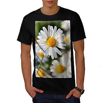Kamille Foto Natur Männer BlackT-Shirt | Wellcoda