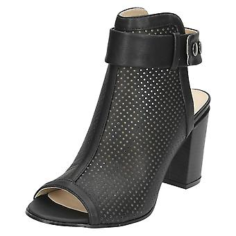 Ladies Spot On Open Back Shoe Boots F10522
