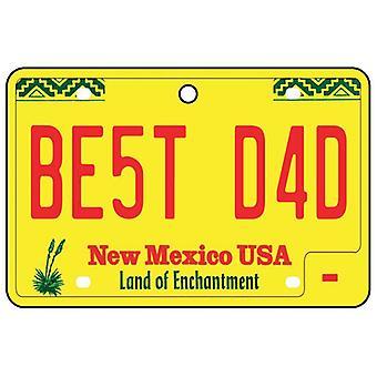 New Mexico - beste pappa nummerskilt bil Air Freshener