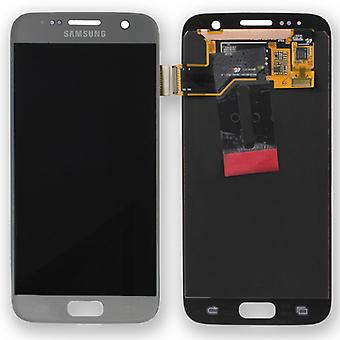 Afficher argent set complet LCD pour Samsung Galaxy S7 G930 G930F GH97-18523 B