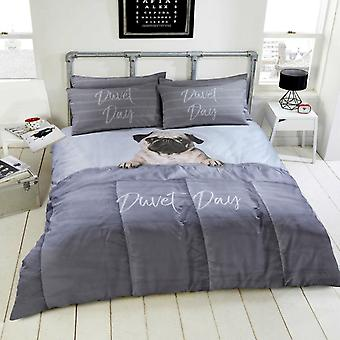 Daytime Pug Duvet Cover Bedding Set