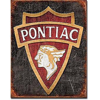Letrero de Metal de la insignia de Pontiac1930