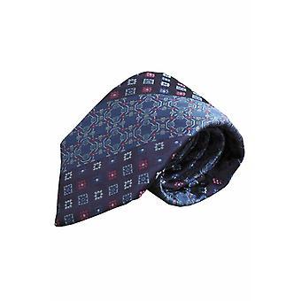 Blue silk tie V45