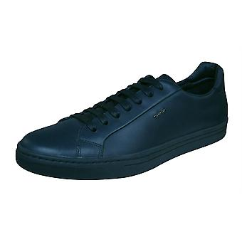 Geox U Ricky F Mens Leather Trainers / Shoes - Navy Blue