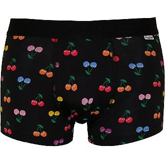 Happy Socks Cherries Boxer Trunk, Black/multi