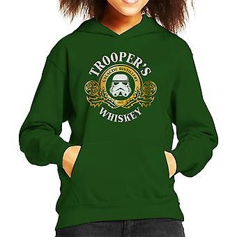 Original Stormtrooper Galactic Distillery Whiskey Kid's Hooded Sweatshirt