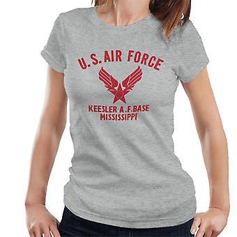 US Airforce Keesler AF Base Mississippi Red Text Women's T-Shirt