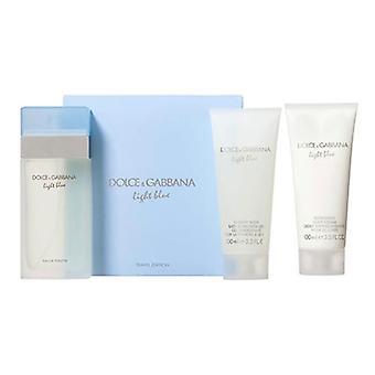 Luz azul por Dolce & Gabbana para conjunto de 3 peças de mulheres do