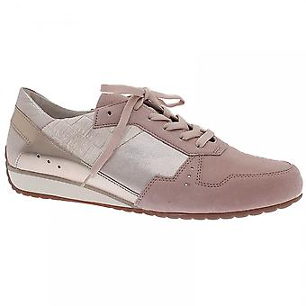 Gabor Lace Up Luxe Multi Panel Trainer Shoe