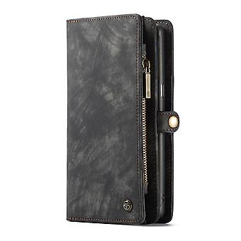 CASEME Samsung Galaxy Note 9 Retro leather wallet Case Black
