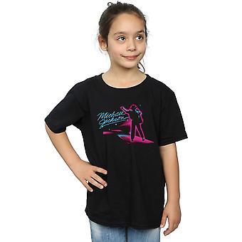 Michael Jackson Girls Neon Stripes T-Shirt