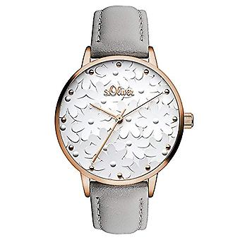 s. Oliver Analog quartz ladies watch with leather SO-3467-LQ