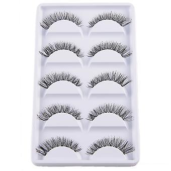 10pcs luxurious long false eyelashes-Tilda