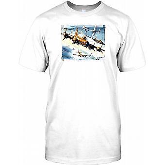 US-Bomber Flotte V Luftwaffe - WW2 Helden Mens T Shirt