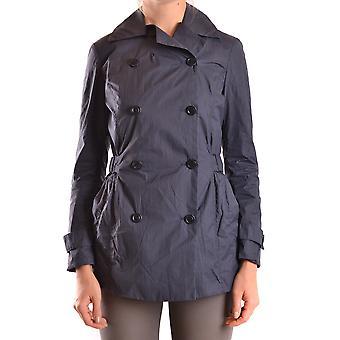 Brema Ezbc146008 Women's Blue Nylon Trench Coat