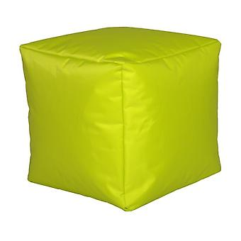 Seat cube nylon Limone with filling 40 x 40 x 40