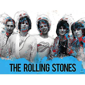 The Rolling Stones Poster Poster Music Wall Art Print (24x18)
