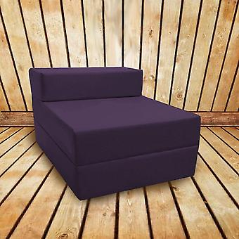 Loft 25 Confortável Fold Out Z Cadeira de Cama em Cinza Escuro. Macio, confortável e leve com uma tampa resistente à água removida.