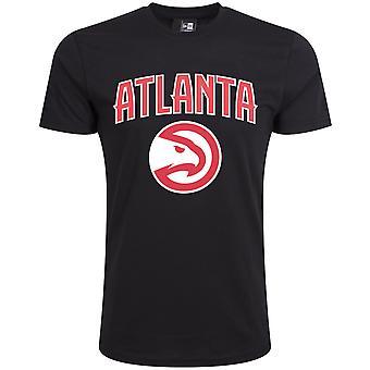 New Era Basic Shirt-NBA Atlanta Hawks black