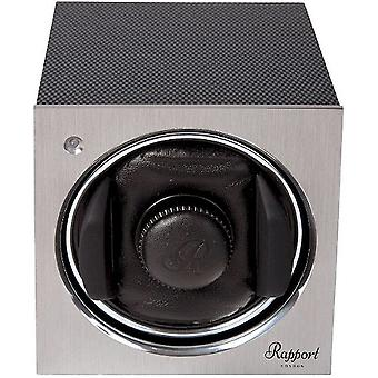 Rapport London watch movers Tetra Mono Watch Winder, Carbon W147