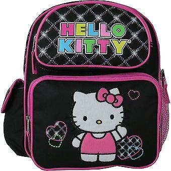 Small Backpack - Sanrio - Hello Kitty - Hearts Black New 813526