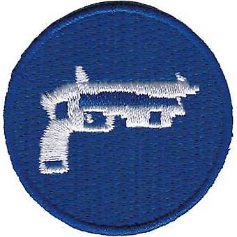 Patch - Games - Blue Gun Gameboy Iron On Gifts Toys New p-3878-dsx