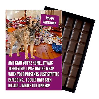 Border Terrier Funny Birthday Gifts For Dog Lover Boxed Chocolate Greeting Card Present