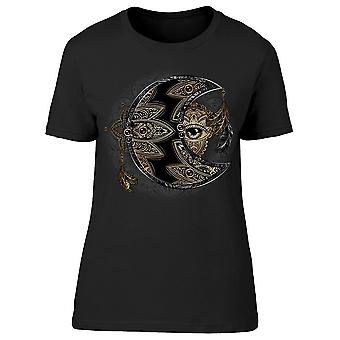 Crescent Moon And Sun Graphic Tee Women's -Image by Shutterstock