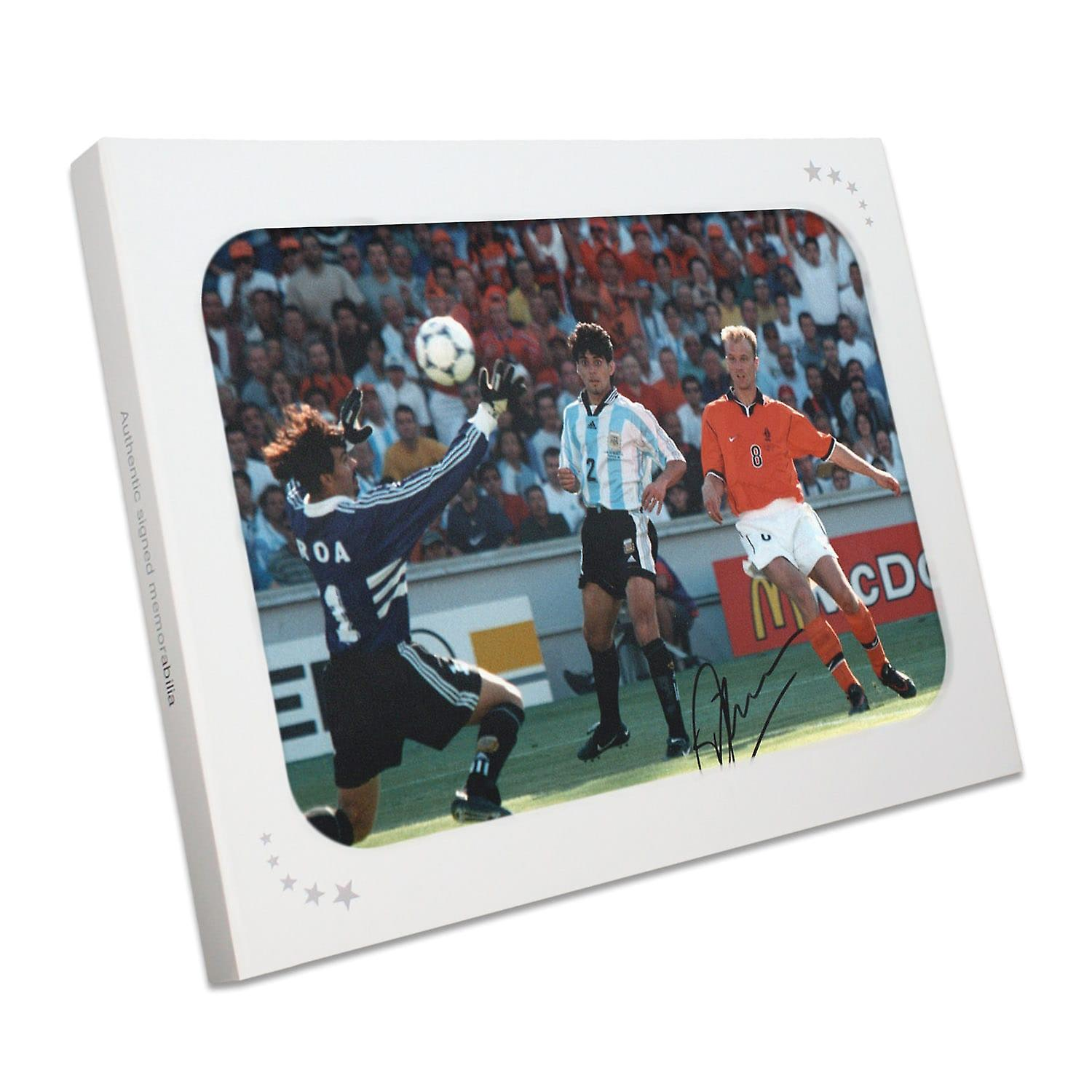 Dennis Bergkamp Signed Holland Photo: The Argentina Goal In Gift Box