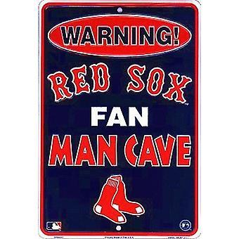 Boston Red Sox MLB Fan Man caverna sinal de estacionamento