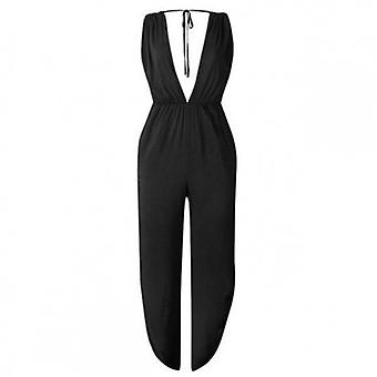 Jumpsuits Casual Sexy  Plus Size  Backless Split