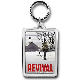 Revival Em Scythe Lucite Schlüsselanhänger