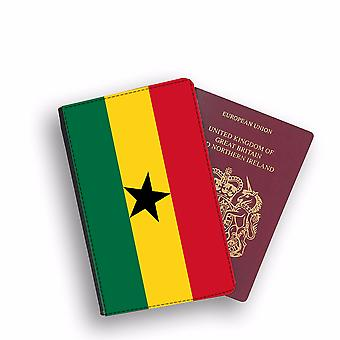 GHANA Flag Passport Holder Style Case Cover Protective Wallet Flags design